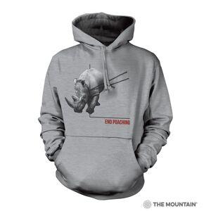 The Mountain 7255751 Grey Poaching Rhino Hoodie - Medium