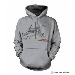 The Mountain 7255770 Grey Habitat Jaguar Hoodie - Small