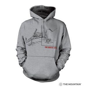 The Mountain 7255774 Grey Habitat Jaguar Hoodie - 2XL