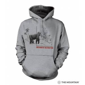The Mountain 7255781 Grey Habitat Gorilla Hoodie - Medium