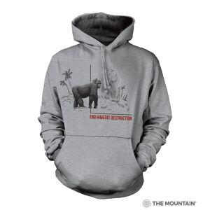 The Mountain 7255783 Grey Habitat Gorilla Hoodie - Extra Large