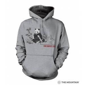 The Mountain 7255793 Grey Habitat Panda Hoodie - Extra Large
