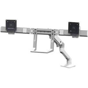 Ergotron 45-476-216 HX Desk Dual Monitor Arm Mounting Kit, Bright White
