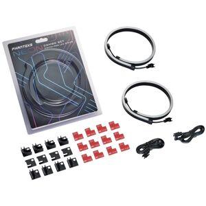 Phanteks PH-NELEDKT-CMBO NEON Digital-RGB LED Strip Combo Set with 2x 400 mm Smooth Lighting Strip, Full Color Range, Flexible Mounting Kit