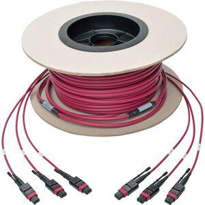 Interex By Tripp-Lite Tripp Lite TRL-N85838M3X8MG 38m 24-Fiber MTP MPO OM4 Base-8 MMF Trunk Cable, 40 by 100GbE 3X- Magenta