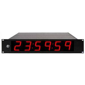 ESE -ES-996UNTPCP  ES 996U NTP-C P 6-Digit Clock with NTP-C with 2.3in High Red LED Display & 19 in. Rack Mount Option