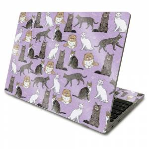 MightySkins GL-SACHBO411-Cat Chaos Glossy Glitter Skin Compatible with Samsung Chromebook 4 2021 11.6 in. - Cat Chaos