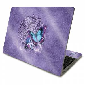 MightySkins GL-SACHBO411-Celtic Butterflies Glossy Glitter Skin Compatible with Samsung Chromebook 4 2021 11.6 in. - Celtic Butterflies