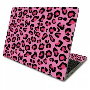 MightySkins SACHBO411-Pink Leopard Skin Compatible with Samsung Chromebook 4 2021 11.6 in. - Pink Leopard