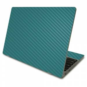 MightySkins CF-SACHBO411-Solid Teal Carbon Fiber Skin Compatible with Samsung Chromebook 4 2021 11.6 in. - Solid Teal