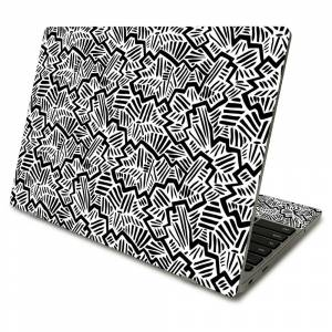 MightySkins SACHBO411-Abstract Black Skin Compatible with Samsung Chromebook 4 2021 11.6 in. - Abstract Black