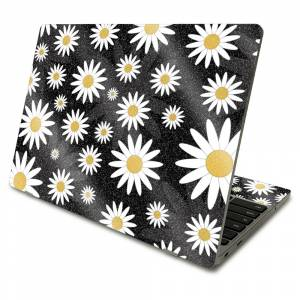 MightySkins GL-SACHBO411-Daisies Glossy Glitter Skin Compatible with Samsung Chromebook 4 2021 11.6 in. - Daisies