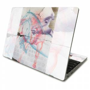 MightySkins GL-SACHBO411-Damaged Horses Glossy Glitter Skin Compatible with Samsung Chromebook 4 2021 11.6 in. - Damaged Horses