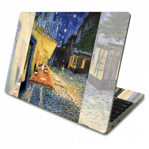 MightySkins SACHBO411-Cafe Terrace At Night Skin Compatible with Samsung Chromebook 4 2021 11.6 in. - Cafe Terrace At Night