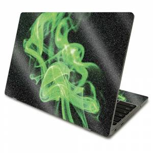 MightySkins GL-SACHBO411-Green Flames Glossy Glitter Skin Compatible with Samsung Chromebook 4 2021 11.6 in. - Green Flames
