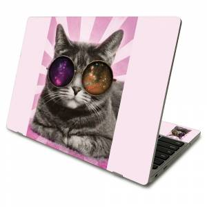 MightySkins SACHBO411-Galaxy Cat Skin Compatible with Samsung Chromebook 4 2021 11.6 in. - Galaxy Cat