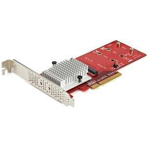 Startech PEX8M2E2 x8 Dual M.2 PCIe NVMe SSD Adapter - PCIe 3.0