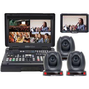 POLARMADE PRODUCTS INC Datavideo HS-1600T3C140TCM Mobile Studio Kit with HS-1600T 3x PTC-140T, TLM-700K Case