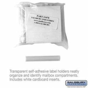 Salsbury 1070 Label Holders, 3 x 0.5 x 0.125 in. - Pack of 50