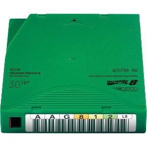 HP Q2078A 12TB-30TB  LTO 8 Ultrium 7A TAA Data Cartridge