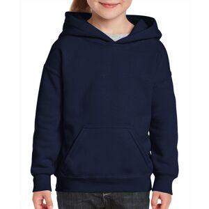 Gildan DDI 2327451 Navy  Irregular Youth Hooded Pullover - Large Case of 12