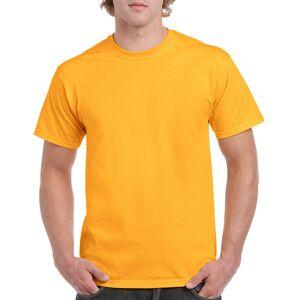 Gildan DDI 2337534  Heavy Cotton Men's T-Shirt - Gold  Medium Case of 12