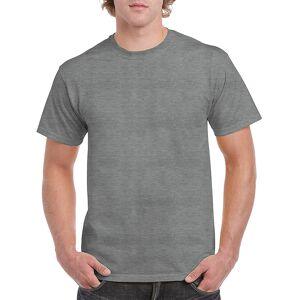 Gildan 2337537 Heavy Cotton Graphite Heather Adult T-Shirt, 2X - Case of 12