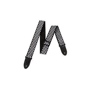 Abacus Guitar Checkered Strap, Black & White