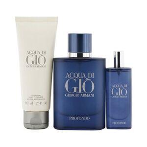 Giorgio Armani 261268 Acqua Di Gio Profondo Coffret Eau De Parfum Spray - 3 Piece