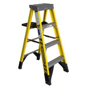 Werner 7304S 4 ft. Type IAA Fiberglass Step Ladder with Shelf