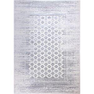 Bashian E110-IV-5X7.6-5362 Everek Collection Geometric Transitional Polypropylene Machine Made Area Rug, Ivory - 5 ft. x 7 ft. 6 in.