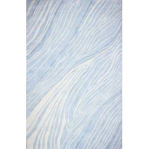 Bashian R129-LBL-2.6X8-HG378 2 ft. 6 in. x 8 ft. Greenwich Collection Contemporary Wool & Viscose Hand Tufted Area Rug, Light Blue