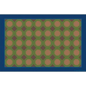 Learning Carpets CPR3125 Woodtone Octogons Educational Rectangle Rug - Value Size