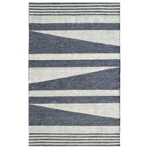 Dynamic Rugs OK248371150 Oak 2 x 4 ft. Modern Cotton & Wool Area Rug - Ivory & Denim