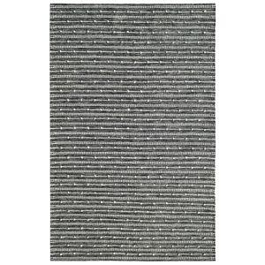 Dynamic Rugs OK248373199 Oak 2 x 4 ft. Modern Cotton & Wool Area Rug - Ivory & Charcoal