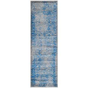 Safavieh ADR109A-212 Adirondack Runner Rug, Grey & Blue - 2 ft. 6 in. x 12 ft.