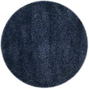 Safavieh SG151-7070-5R 5 ft. 3 in. x 5 ft. 3 in. Contemporary Shag Power Loom Area Rug, Navy