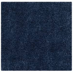 Safavieh SG151-7070-5SQ 5 ft. 3 in. x 5 ft. 3 in. Contemporary Shag Power Loom Area Rug, Navy