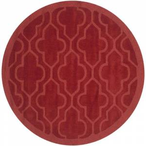 Safavieh IM351A-5R 5 x 5 ft. Impressions Hand Loomed Round Area Rug, Rust