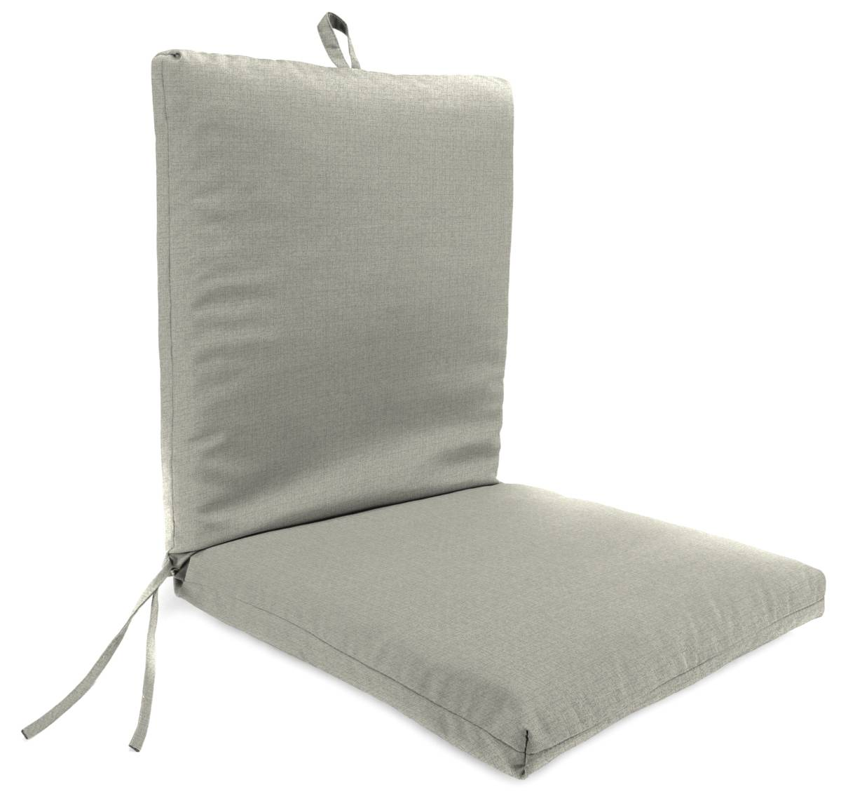 Jordan Manufacturing 9701PK1-5514D Outdoor French Edge Dining Chair Cushion, Husk Texture Stone