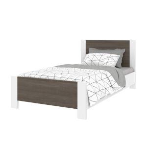 Bestair Bestar 108220-000047 Sirah Twin Platform Bed, Bark Grey & White - 41.10 x 33.00 x 77.50 in.