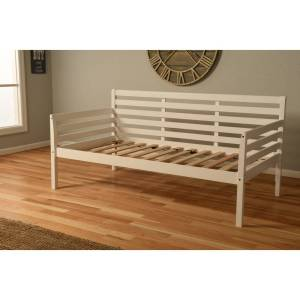 Pine Canopy BOHODBWH1 Boho White Frame Daybed - Twin Size