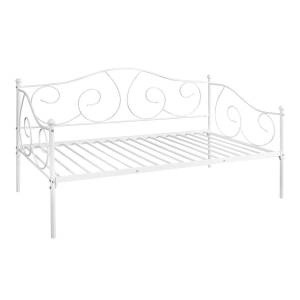 Furinno FDB222T-WH Angeland Carca Metal Daybed, White - Twin Size