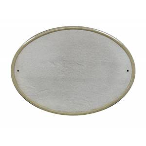 QualArc RIG-4914-SL 10 in. Ridgestone Oval Crushed Stone Do It Yourself Kit Address Plaque in Slate Color