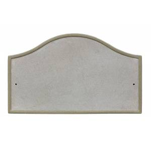 QualArc RIG-4916-SL 10 in. Ridgestone Serpentine Crushed Stone Do It Yourself Kit Address Plaque in Slate Color