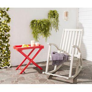 Safavieh PAT7003C Clayton Rocking Chair, White