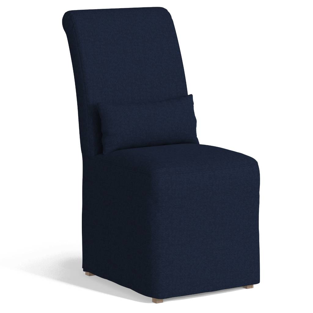 Sunset Trading SY-1025906-391049 Newport Slipcovered Dining Chair, Navy Blue