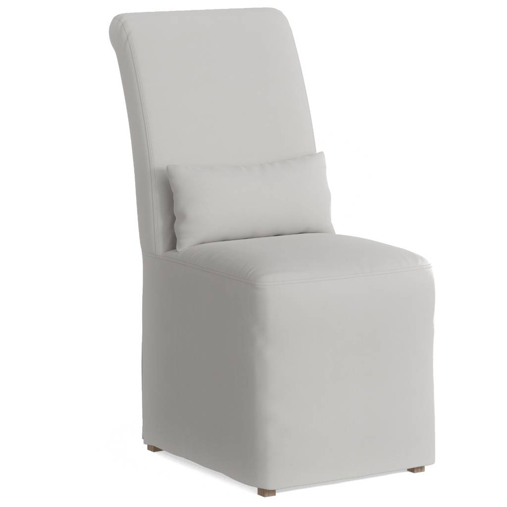 Sunset Trading SY-1025906-391081 Newport Slipcovered Dining Chair  White