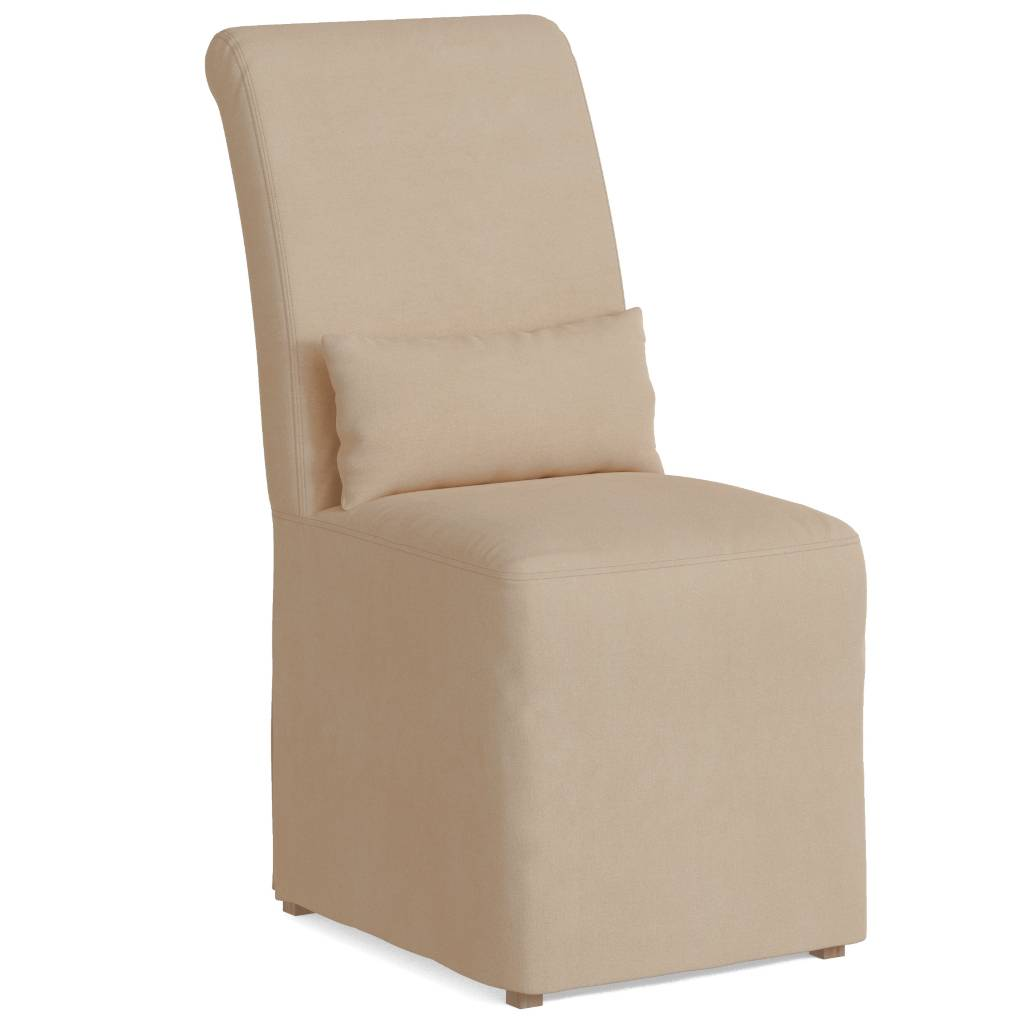 Sunset Trading SY-1025906-391084 Newport Slipcovered Dining Chair, Tan