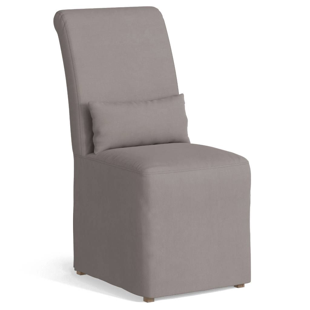 Sunset Trading SY-1025906-391094 Newport Slipcovered Dining Chair, Gray